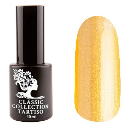 Tartiso, Гель-лак - Classic TCL-21 (10 мл.)Tartiso <br>Гель-лак, золотой, с микро шиммером, глянцевый, плотный<br>