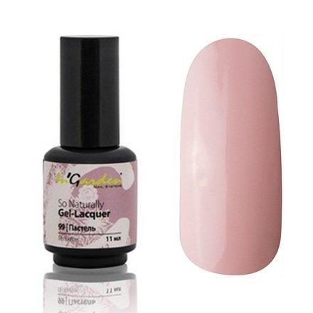 InGarden So Naturally, цвет №99 ПастельInGarden So Naturally<br>Гель-лак, светлый бежево-розовый пастельный, без блесток и перламутра, плотный,11 ml<br>