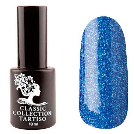 Tartiso, Гель-лак - Classic TCL-55 (10 мл.)Tartiso <br>Гель-лак, синий, с голографическими блестками, плотный<br>