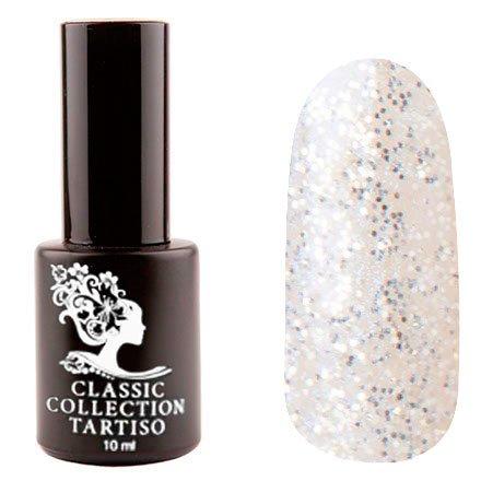 Tartiso, Гель-лак - Classic TCL-61 (10 мл.)Tartiso <br>Гель-лак, полупрозрачный, с серебряными блестками и фиолетовым шиммером<br>