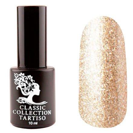 Tartiso, Гель-лак - Classic TCL-62 (10 мл.)Tartiso <br>Гель-лак, светло-золотой, с блестками, полупрозрачный<br>