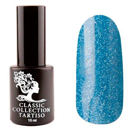 Tartiso, Гель-лак - Classic TCL-73 (10 мл.)Tartiso <br>Гель-лак, голубой, с голографическими блестками, плотный<br>