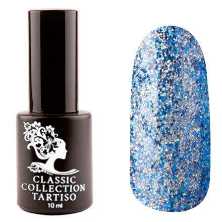 Tartiso, Гель-лак - Classic TCL-75 (10 мл.)Tartiso <br>Гель-лак, полупрозрачный, с синими, голубыми и серебряными блестками<br>