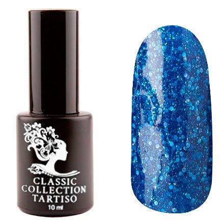 Tartiso, Гель-лак - Classic TCL-77 (10 мл.)Tartiso <br>Гель-лак, синий, с крупными блестками и шиммером, плотный<br>