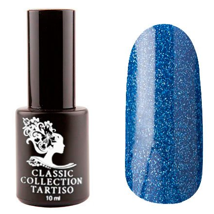 Tartiso, Гель-лак - Classic TCL-78 (10 мл.)Tartiso <br>Гель-лак, синий, с голографическими блестками, плотный<br>