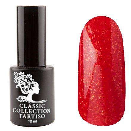 Tartiso, Гель-лак - Classic TCL-88 (10 мл.)Tartiso <br>Гель-лак, красный, с золотистым блестками, полупрозрачный<br>