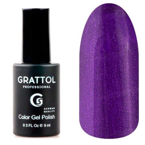 Grattol, Гель-лак Shining Plum №92Grattol<br>Гель лак, плотный темно-пурпурный, с шиммером.<br>