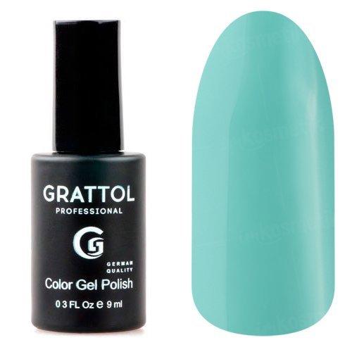 Grattol, Гель-лак Turquoise №60Grattol<br>Гель лак бирюзовый, плотный<br>
