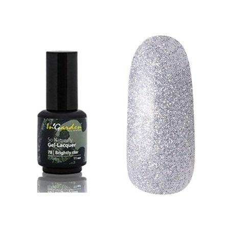InGarden So Naturally, цвет № 78 Brightly StarInGarden So Naturally<br>Гель-лак, большое количество серебряных блесток на прозрачной основе, плотный, 11 ml<br>