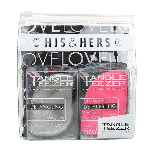 Tangle Teezer, Подарочный набор расчесок - His &amp; HersРасчески Tangle Teezer<br>Tangle Teezer, Подарочный набор расчесок His &amp; Hers (стальной/розовый)<br>