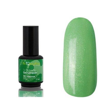 InGarden So Naturally, цвет № 73 КалатеяInGarden So Naturally<br>Гель-лак, салатово-зеленый с серебряным микроперламутром, плотный, 11 ml<br>