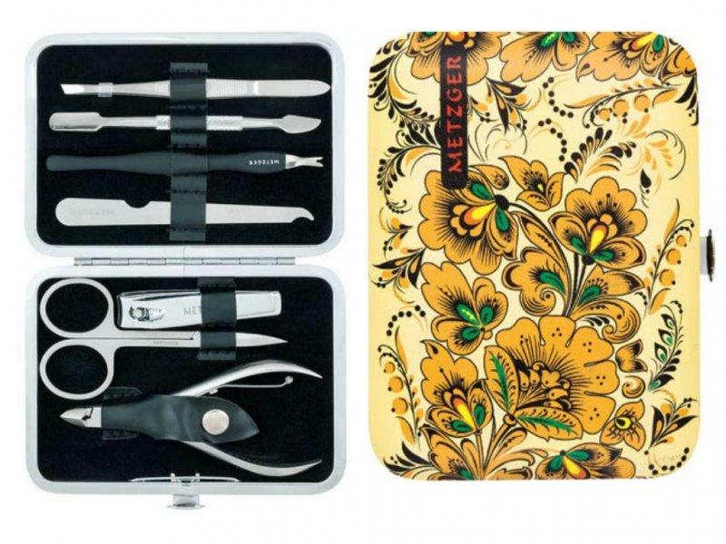 Metzger, Маникюрный набор Хохлома MS-2957(7)-Big (7 предметов)Инструменты для педикюра<br>Маникюрный набор (7 предметов).<br>