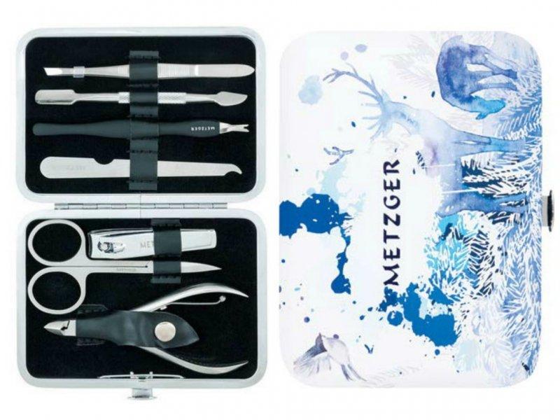 Metzger, Маникюрный набор Зима MS-2957(8)-Big (7 предметов)Инструменты для педикюра<br>Маникюрный набор (7 предметов).<br>