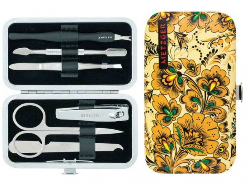 Metzger, Маникюрный набор Хохлома MS-3957(7)-Small (6 предметов)Инструменты для педикюра<br>Маникюрный набор (6 предметов).<br>