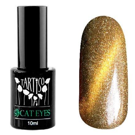 Tartiso, Гель-лак - Cat Eyes №11 (10 мл.)Tartiso <br>Магнитный гель-лак, светлое золото, с золотистым перламутром и блестками, плотный<br>