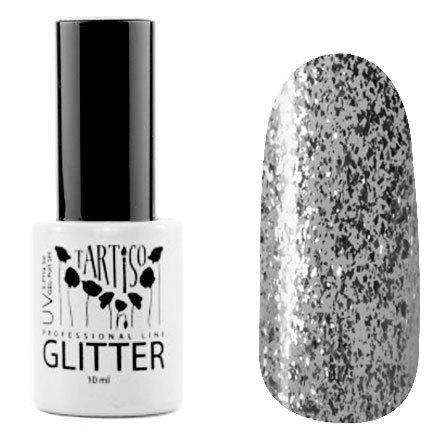 Tartiso, Гель-лак - Glitter №03 (10 мл.)Tartiso <br>Гель-лак, полупрозрачный серебряной слюдой<br>