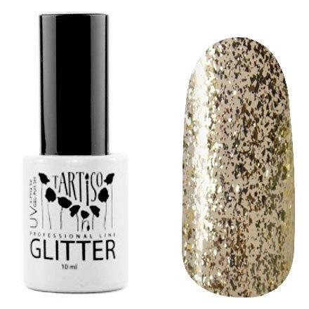 Tartiso, Гель-лак - Glitter №05 (10 мл.)Tartiso <br>Гель-лак, полупрозрачный с золотистыми блестками и серебряной слюдой<br>