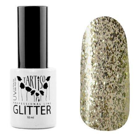 Tartiso, Гель-лак - Glitter №06 (10 мл.)Tartiso <br>Гель-лак, полупрозрачный с блестками светлое золото и серебряной слюдой<br>
