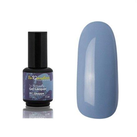 InGarden So Naturally, цвет №55 ДжерриInGarden So Naturally<br>Гель-лак, серо-голубой, без блесток и перламутра, плотный, 11 ml<br>