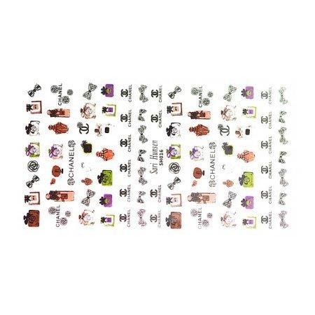 TNL, Наклейки - Корейский маникюр SH016 (Chanel)Наклейки Корейский маникюр TNL<br><br>