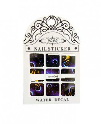 Coco, Nail Sticker - Слайдер-дизайн LW-008Слайдер-дизайн Coco<br>Слайдер-дизайн<br>