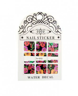 Coco, Nail Sticker - Слайдер-дизайн LW-013Слайдер-дизайн Coco<br>Слайдер-дизайн<br>