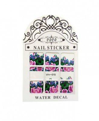 Coco, Nail Sticker - Слайдер-дизайн LW-015Слайдер-дизайн Coco<br>Слайдер-дизайн<br>