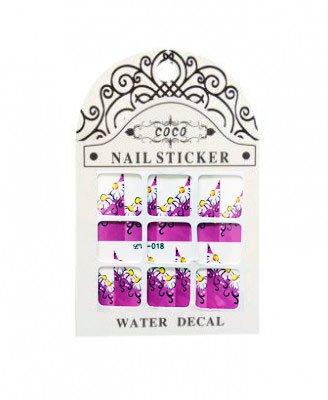 Coco, Nail Sticker - Слайдер-дизайн LW-018Слайдер-дизайн Coco<br>Слайдер-дизайн<br>