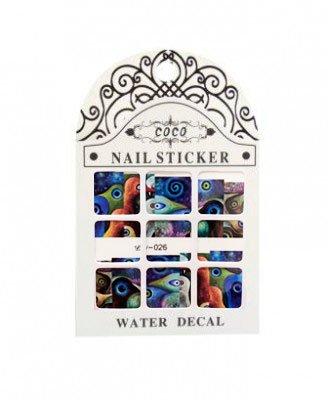 Coco, Nail Sticker - Слайдер-дизайн LW-026Слайдер-дизайн Coco<br>Слайдер-дизайн<br>