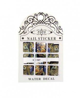 Coco, Nail Sticker - Слайдер-дизайн LW-027Слайдер-дизайн Coco<br>Слайдер-дизайн<br>