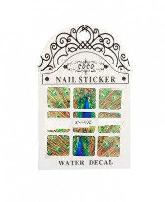 Coco, Nail Sticker - Слайдер-дизайн LW-032Слайдер-дизайн Coco<br>Слайдер-дизайн<br>