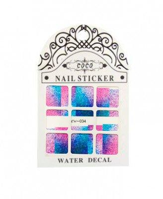 Coco, Nail Sticker - Слайдер-дизайн LW-034Слайдер-дизайн Coco<br>Слайдер-дизайн<br>