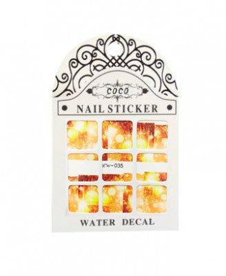Coco, Nail Sticker - Слайдер-дизайн LW-035Слайдер-дизайн Coco<br>Слайдер-дизайн<br>