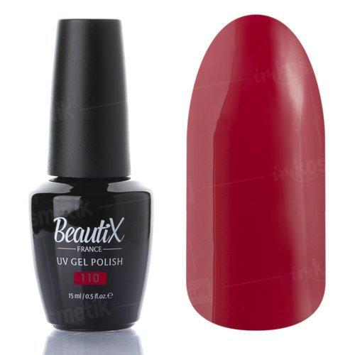 Beautix, Гель-лак №110 (15 мл.)Beautix<br>Гель-лак, темно-красный, глянцевый, плотный<br>