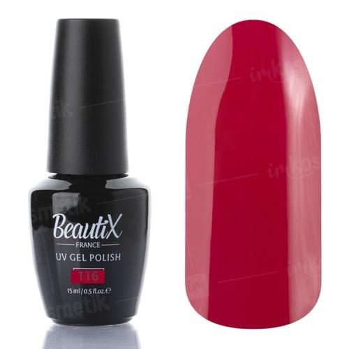 Beautix, Гель-лак №116 (15 мл.)Beautix<br>Гель-лак, красно-бордовый, глянцевый, плотный<br>