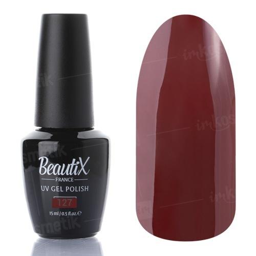 Beautix, Гель-лак №127 (15 мл.)Beautix<br>Гель-лак, коричневый, глянцевый, плотный<br>