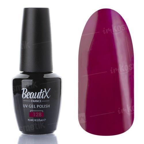 Beautix, Гель-лак №128 (15 мл.)Beautix<br>Гель-лак, малиново-сливовый, глянцевый,полупрозрачный<br>