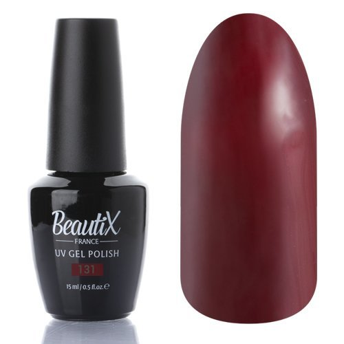 Beautix, Гель-лак №131 (15 мл.)Beautix<br>Гель-лак, бордовый, глянцевый,плотный<br>