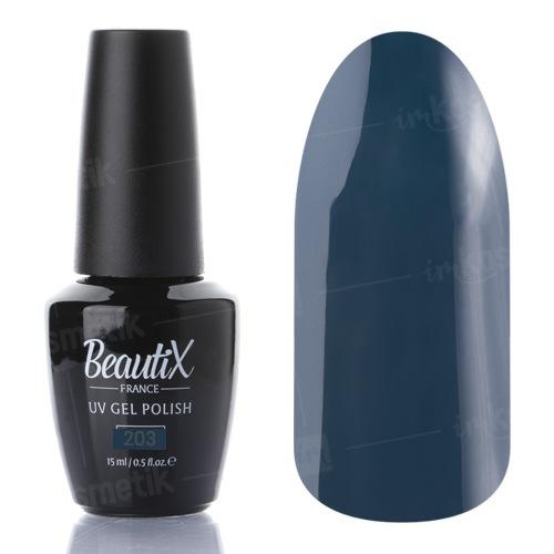Beautix, Гель-лак №203 (15 мл.)Beautix<br>Гель-лак, глубокий зелено-синий, глянцевый,плотный<br>