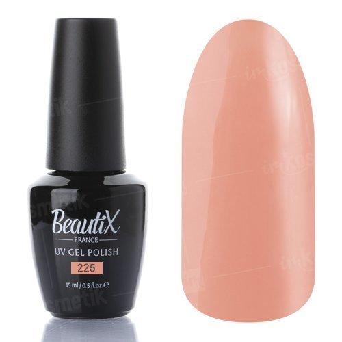 Beautix, Гель-лак №225 (15 мл.)Beautix<br>Гель-лак, персиковый, глянцевый, плотный<br>