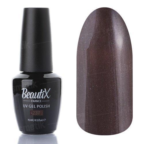 Beautix, Гель-лак №237 (15 мл.)Beautix<br>Гель-лак, коричневый, глянцевый, с микроблеском, плотный<br>