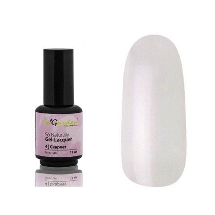 InGarden So Naturally, цвет №04 СкарлетInGarden So Naturally<br>Гель-лак, прозрачный, с легким розовым перламутром, подойдет для французского маникюра,11 ml<br>