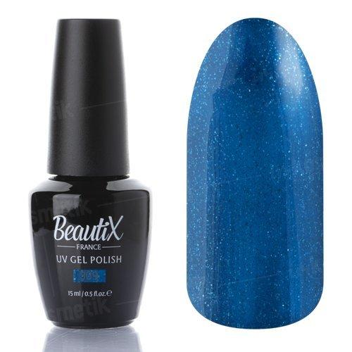 Beautix, Гель-лак №309 (15 мл.)Beautix<br>Гель-лак, глубинный сине-зеленый, глянцевый, с блестками, плотный<br>