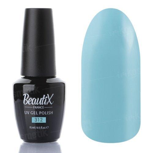 Beautix, Гель-лак №312 (15 мл.)Beautix<br>Гель-лак, мятно-голубой, глянцевый, плотный<br>