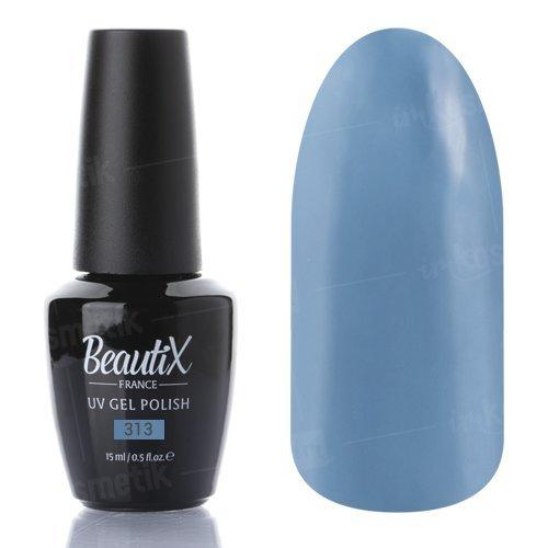 Beautix, Гель-лак №313 (15 мл.)Beautix<br>Гель-лак, дымчато-синий, глянцевый, плотный<br>