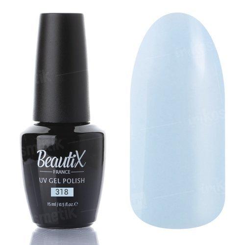 Beautix, Гель-лак №318 (15 мл.)Beautix<br>Гель-лак, небесно-голубой, глянцевый, плотный<br>