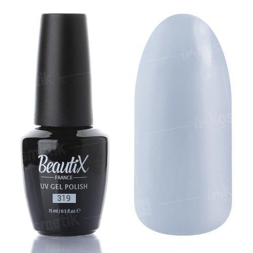 Beautix, Гель-лак №319 (15 мл.)Beautix<br>Гель-лак, серо-голубой, глянцевый, плотный<br>
