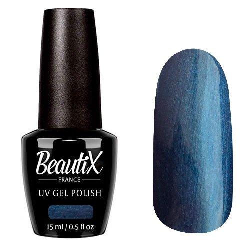 Beautix, Гель-лак №332 (15 мл.)Beautix<br>Гель-лак, синий металлик, глянцевый, с микроперламутром, плотный<br>