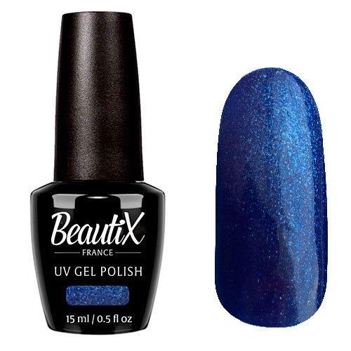 Beautix, Гель-лак №335 (15 мл.)Beautix<br>Гель-лак, синий, глянцевый, с микроблеском, плотный<br>