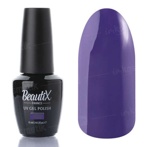 Beautix, Гель-лак №336 (15 мл.)Beautix<br>Гель-лак, фиолетово-синий, глянцевый, плотный<br>